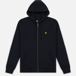 Мужская толстовка Lyle & Scott Zip Through Hoodie True Black фото- 0