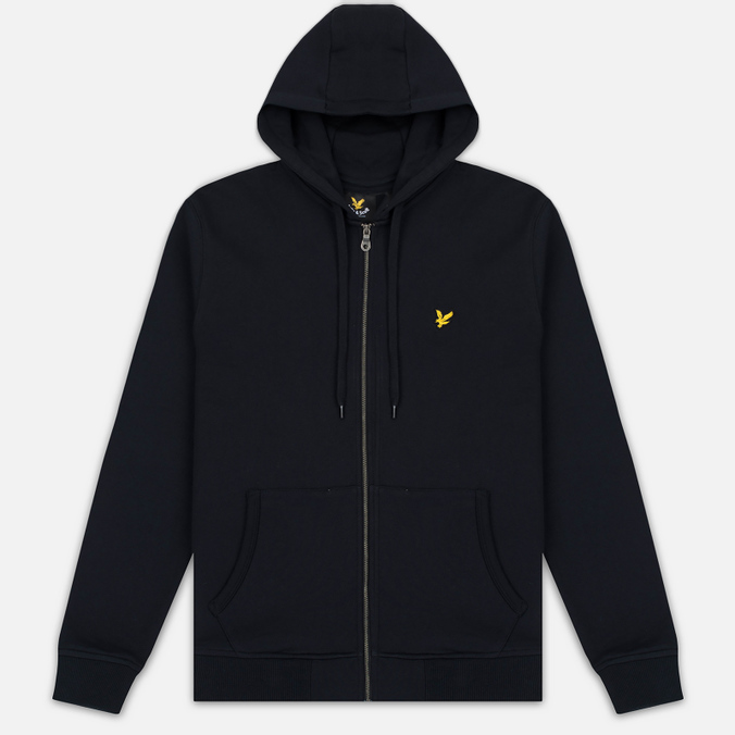 Мужская толстовка Lyle & Scott Zip Through Hoodie True Black