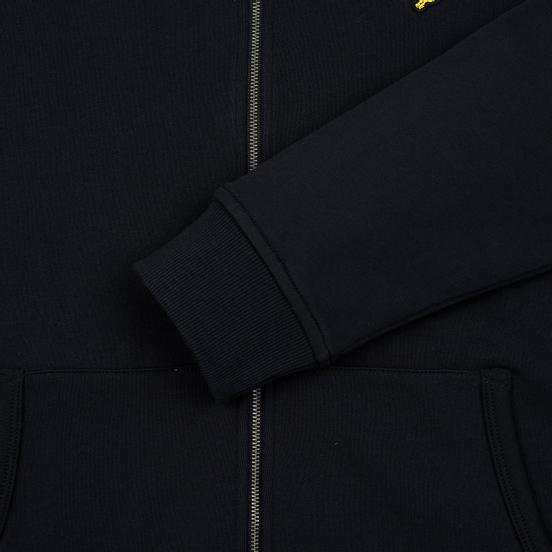 Мужская толстовка Lyle & Scott Zip Through Hoodie True Black