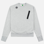 Мужская толстовка MA.Strum Crew Neck Chest Pocket Fleece Grey Marl фото- 0