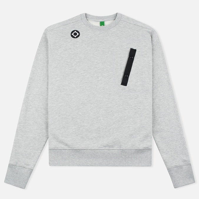 Мужская толстовка MA.Strum Crew Neck Chest Pocket Fleece Grey Marl