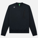 Мужская толстовка MA.Strum Crew Neck Chest Pocket Fleece Jet Black фото- 0