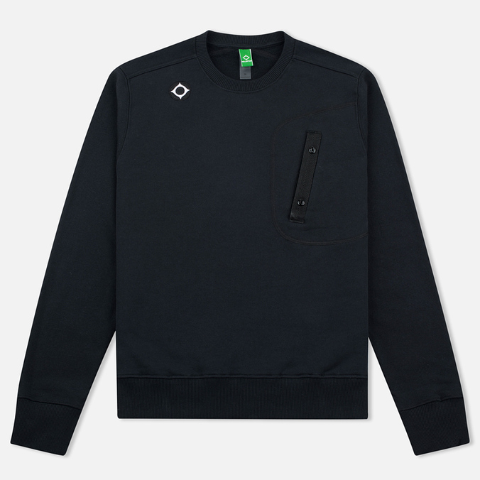 Мужская толстовка MA.Strum Crew Neck Chest Pocket Fleece Jet Black