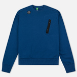 Мужская толстовка MA.Strum Crew Neck Chest Pocket Fleece Northern Blue фото- 0
