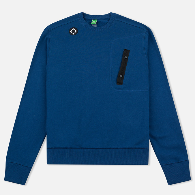 Мужская толстовка MA.Strum Crew Neck Chest Pocket Fleece Northern Blue