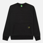 Мужская толстовка MA.Strum Crew Neck Track Jet Black фото- 0