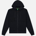 Мужская толстовка MA.Strum Hooded Zip Thru Herringbone Jet Black фото- 0