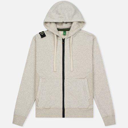 Мужская толстовка MA.Strum Hooded Zip Thru Herringbone Light Grey Melange