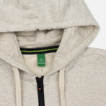 Мужская толстовка MA.Strum Hooded Zip Thru Herringbone Light Grey Melange фото- 1