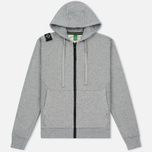 Мужская толстовка MA.Strum Hooded Zip Thru Herringbone Medium Grey Melange фото- 0