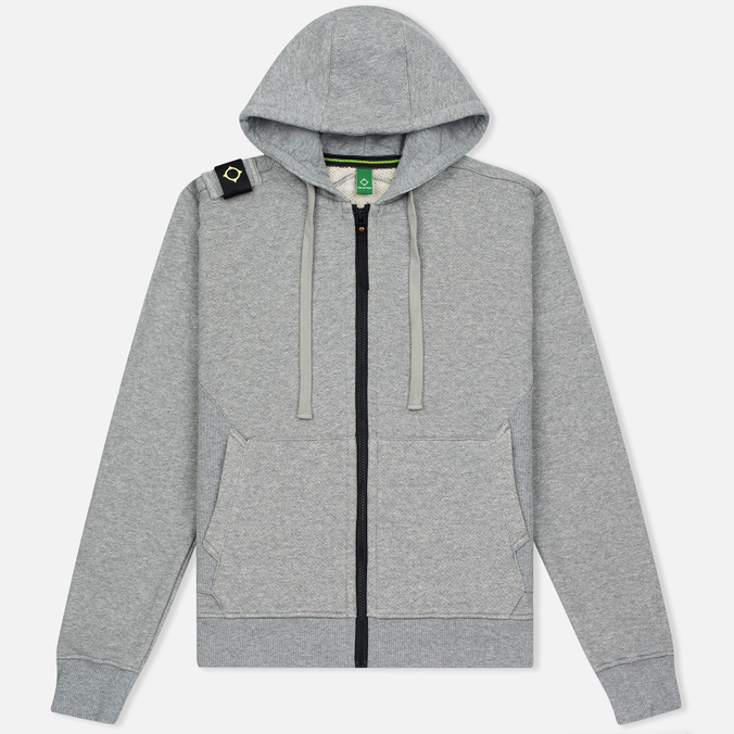 Мужская толстовка MA.Strum Hooded Zip Thru Herringbone Medium Grey Melange