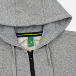 Мужская толстовка MA.Strum Hooded Zip Thru Herringbone Medium Grey Melange фото- 1