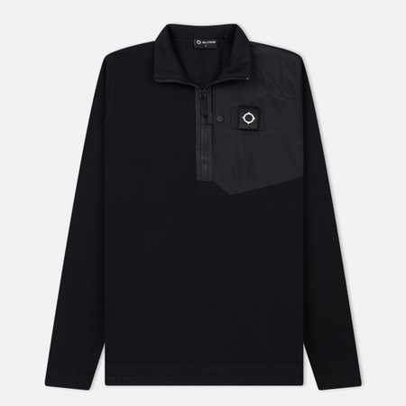 Мужская толстовка MA.Strum Icon Pique Pocket Quarter Zip Jet Black