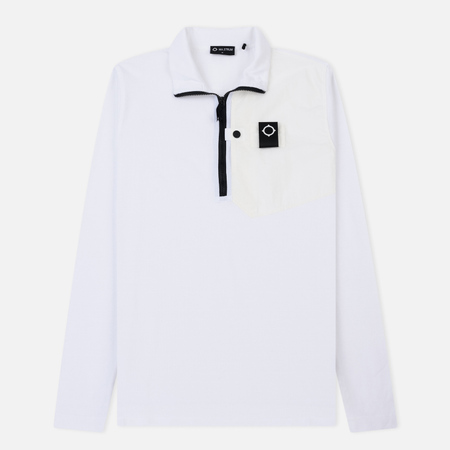 Мужская толстовка MA.Strum Icon Pique Pocket Quarter Zip Optic White