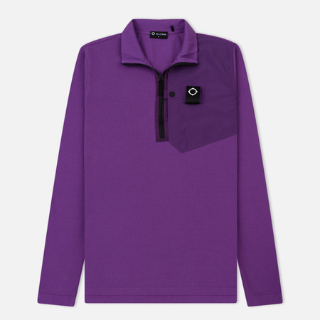 Мужская толстовка MA.Strum Icon Pique Pocket Quarter Zip Ultraviolet