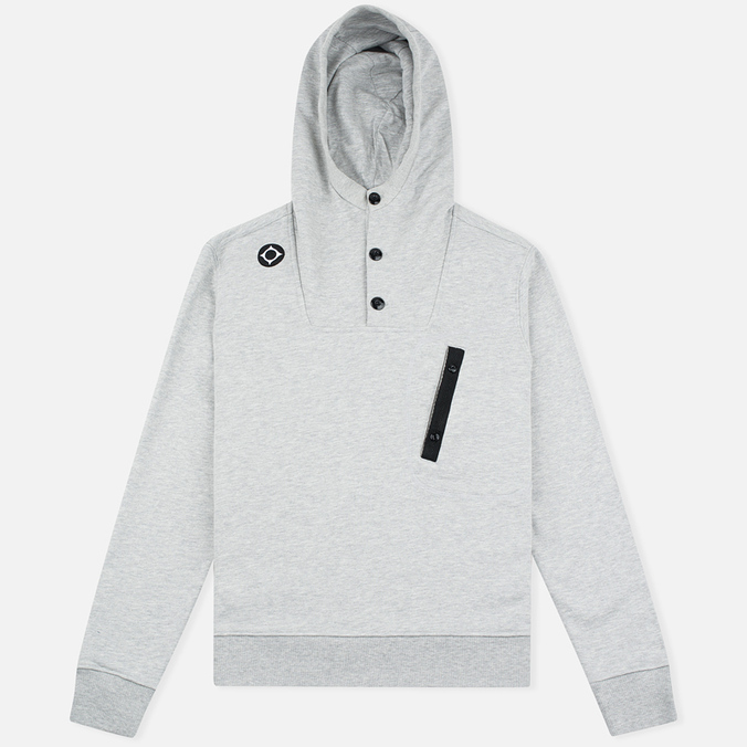 MA.Strum Overhead Fleece Men's Hoodie Grey Marl