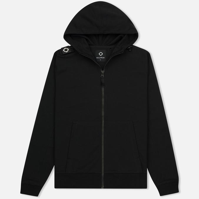 Мужская толстовка MA.Strum Patton Pouch Pocket Zip Through Hooded Jet Black