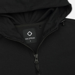 Мужская толстовка MA.Strum Patton Pouch Pocket Zip Through Hooded Jet Black фото- 1