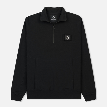 Мужская толстовка MA.Strum Scamp Half Zip Jet Black