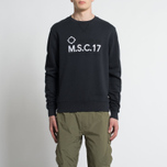 Мужская толстовка MA.Strum Totham M.S.C.17 Crew Neck Dark Navy фото- 4