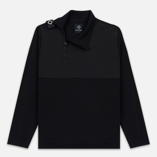 Мужская толстовка MA.Strum Track Funnel Neck Jet Black