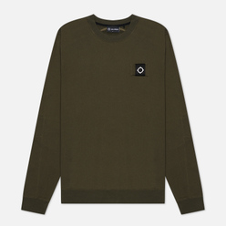 Мужская толстовка MA.Strum Training Crew Diagonal Loopback Dark Khaki Green