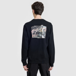 Мужская толстовка maharishi Heaven And Hell Crew Neck Black фото- 3