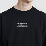 Мужская толстовка maharishi Heaven And Hell Crew Neck Black фото- 2