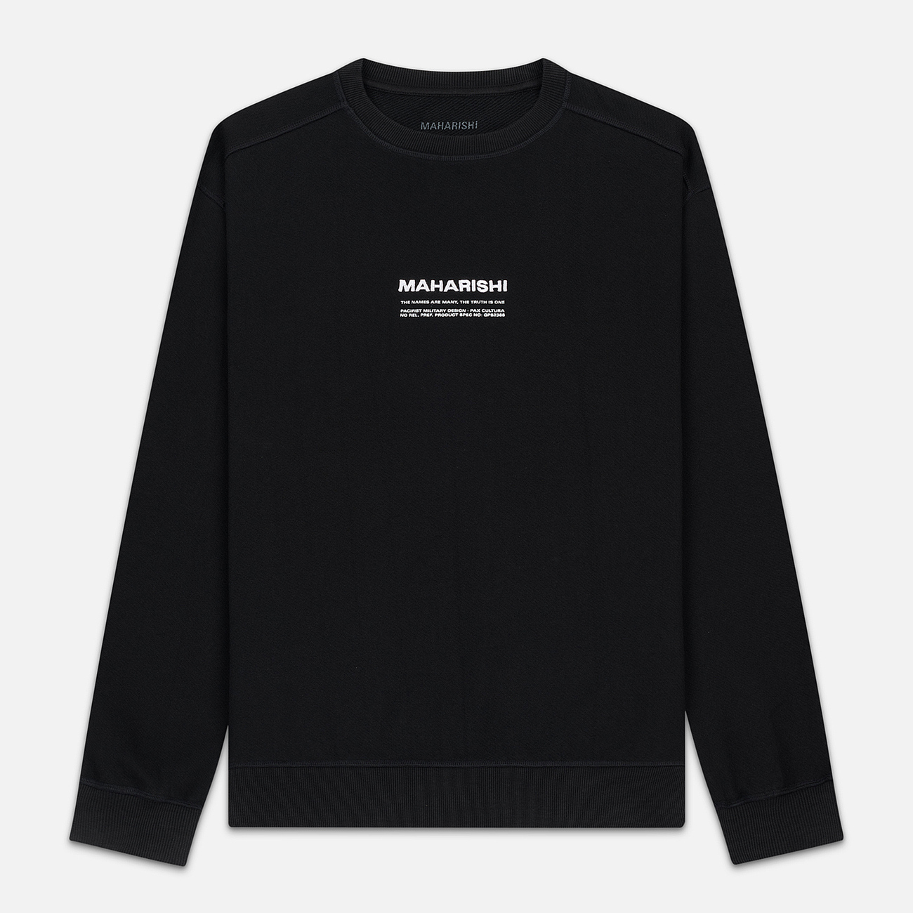 Мужская толстовка maharishi Organic Crew Military Type Embroidery Black