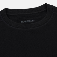 Мужская толстовка maharishi Organic Crew Military Type Embroidery Black фото- 1