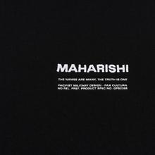 Мужская толстовка maharishi Organic Crew Military Type Embroidery Black фото- 2