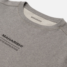 Мужская толстовка maharishi Organic Crew Military Type Embroidery Grey Marl фото- 3
