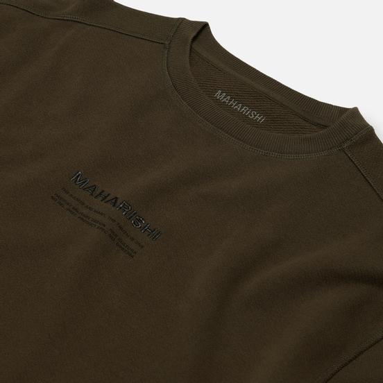 Мужская толстовка maharishi Organic Crew Military Type Embroidery Military Olive
