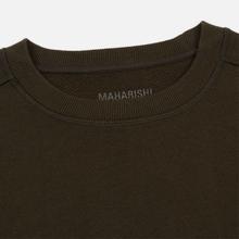 Мужская толстовка maharishi Organic Crew Military Type Embroidery Military Olive фото- 1