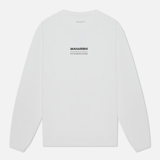 Мужская толстовка maharishi Organic Crew Military Type Embroidery White