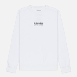 Мужская толстовка maharishi Organic Crew Military Type Embroidery White