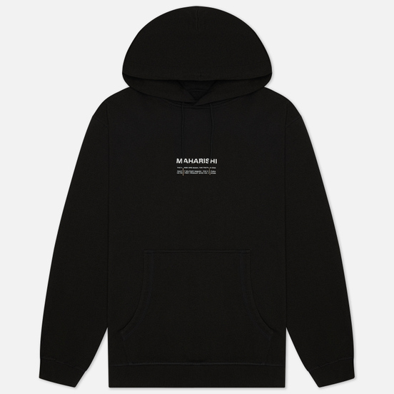 Мужская толстовка maharishi Organic Hooded Military Type Embroidery Black