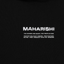 Мужская толстовка maharishi Organic Hooded Military Type Embroidery Black фото- 2