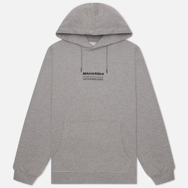 Мужская толстовка maharishi Organic Hooded Military Type Embroidery Grey Marl