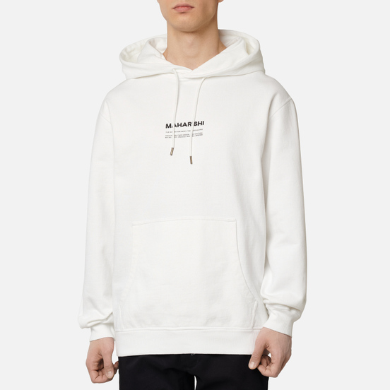 Мужская толстовка maharishi Organic Hooded Military Type Embroidery White