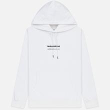 Мужская толстовка maharishi Organic Hooded Military Type Embroidery White фото- 0