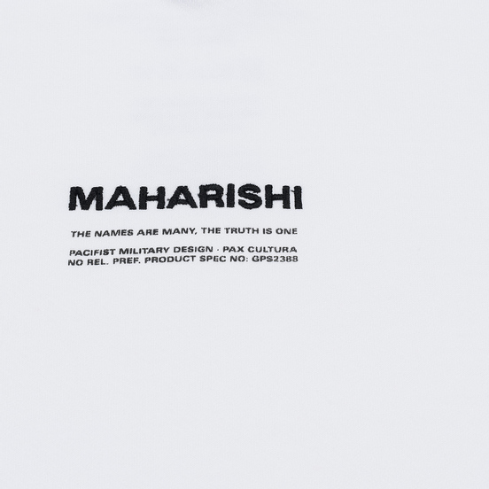 Мужская толстовка maharishi Organic Hooded Military Type Embroidery White