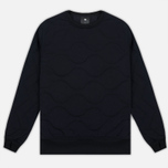 Мужская толстовка maharishi Quilted Crew Sweat Black фото- 0