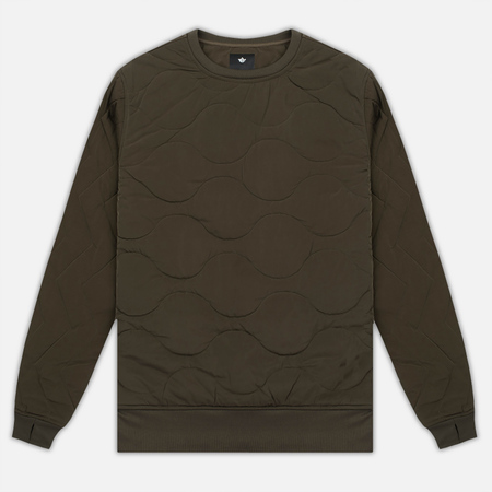 Мужская толстовка maharishi Quilted Crew Sweat Olive