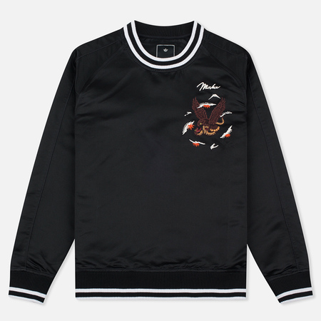 Maharishi Tour Viscose Silk Satin Men`s Sweatshirt Black