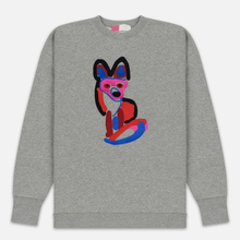Мужская толстовка Maison Kitsune Acide Fox Embroidery Grey Melange фото- 0