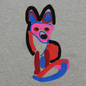 Мужская толстовка Maison Kitsune Acide Fox Embroidery Grey Melange фото - 2