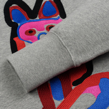 Мужская толстовка Maison Kitsune Acide Fox Embroidery Grey Melange фото- 3