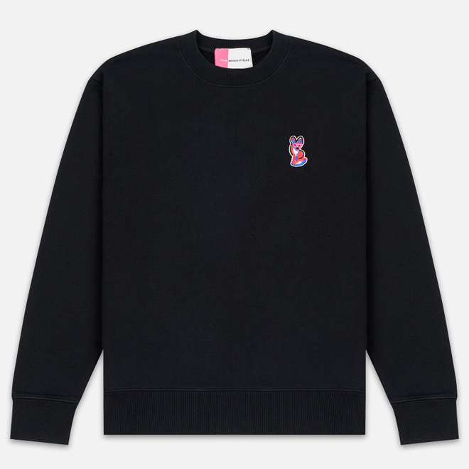 Мужская толстовка Maison Kitsune Acide Fox Patch Black