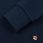 Мужская толстовка Maison Kitsune All Over Fox Head Embroidery Dark Blue фото- 3